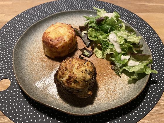 Meat Truffel met Aardappelgratins en Salade