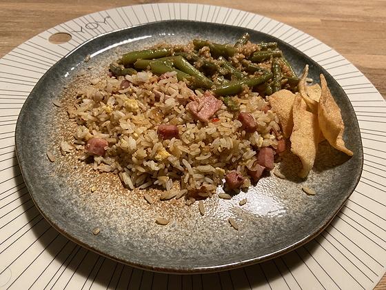 Nasi met Sambal Boontjes