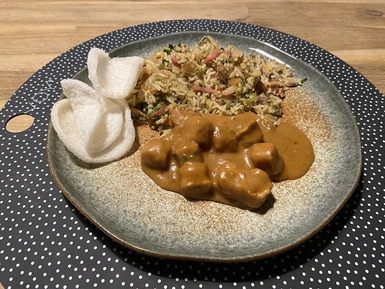Nasi Keboeli met Vegetarische Saté