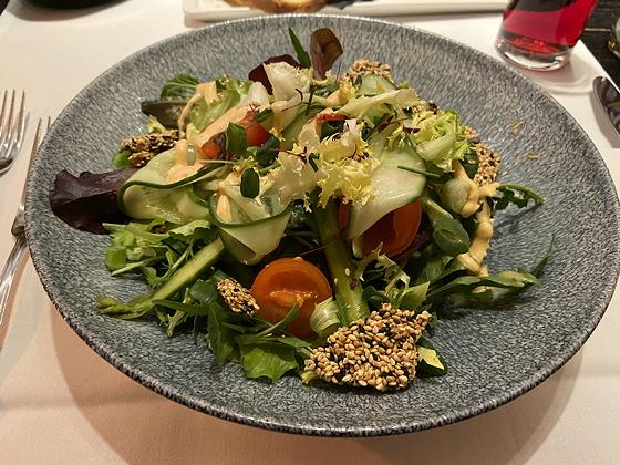 Driegangenmenu bij Van Der Valk Zwolle pulled park salade