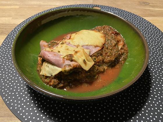 Lasagne met Spinazie en Ham uit de Airfryer