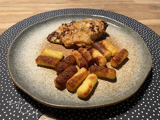 Kipfilet met pesto en pijnboompitten uit de Airfryer
