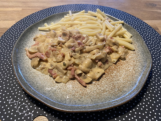 Pasta met Romige Champignonsaus