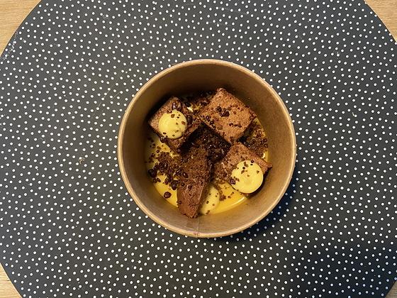 Afhaal-driegangendiner bij Bite Veenendaal brownie