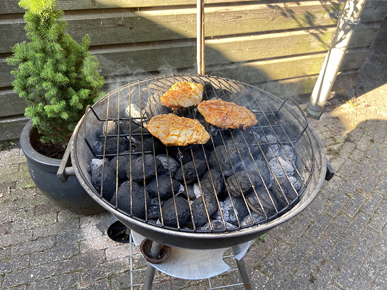 Barbecue varkenslapje