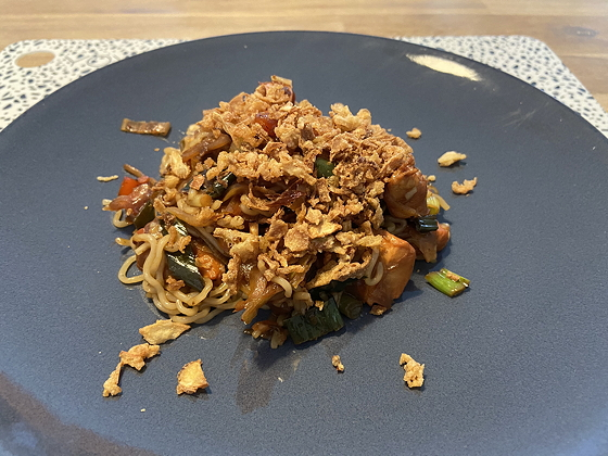 Noodles met Kip, Chinesegroente in Sesam-sojasaus