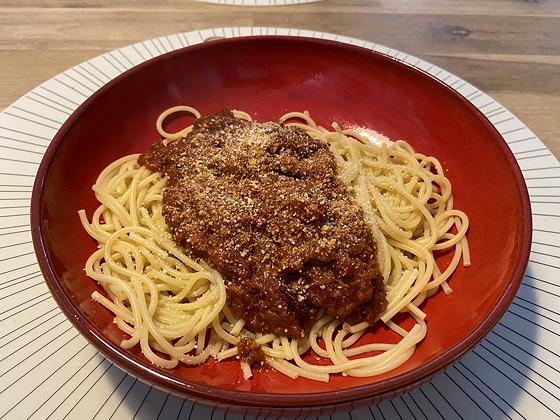 Spaghetti Bolognese uit een pakje