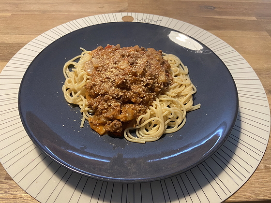 Spaghetti met Gehakt en Pastasaus