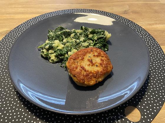 Spinazie met Kipburger