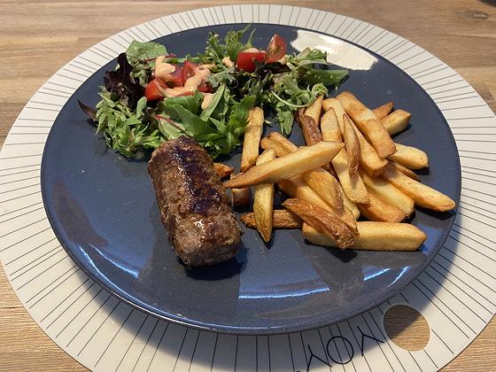 Blinde Vink met Friet en Salade