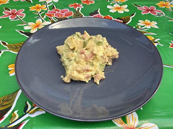 Sperziebonen met Ham, Ui en Aardappelpuree
