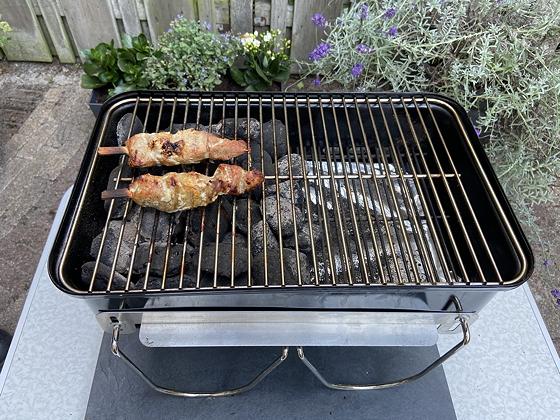 Barbecue varkenshaassate