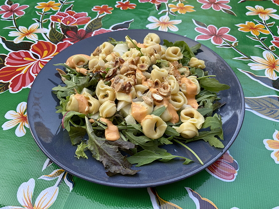 Pasta Salade met Peer en Nootjes