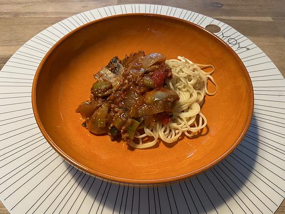 Spaghetti met Gehakt en Groente