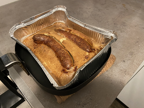 Worstjes in Deegbeslag (Toad in a Hole)