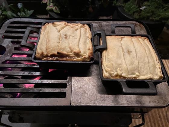 Beef Pie van de BBQ