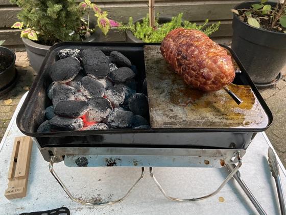 Kiprollade van de BBQ