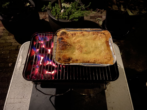 Lasagne van de Barbecue