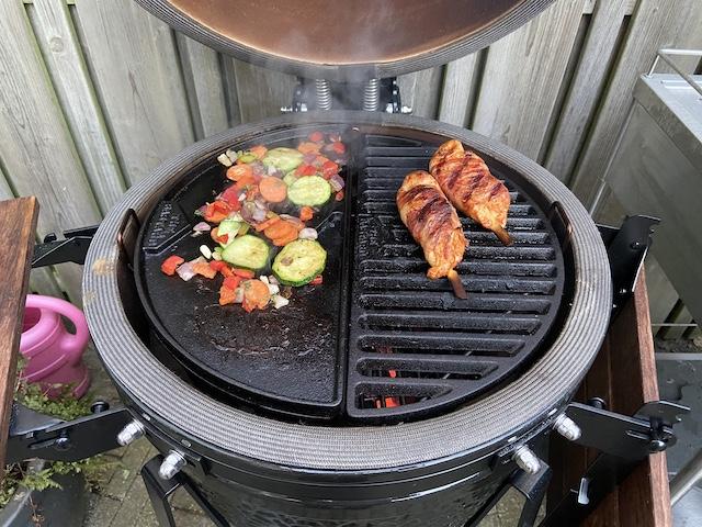 Kip op de Barbecue