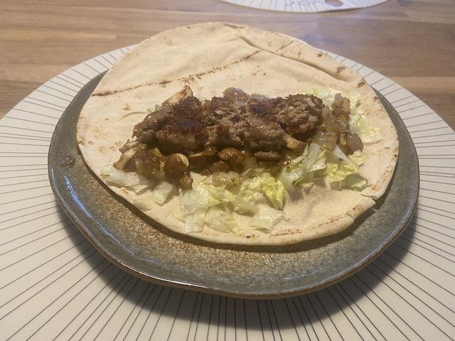 Libanese Wraps met Gehakt en Mangochutney
