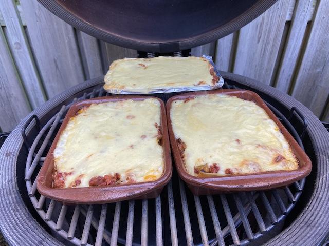 Lasagne van de BBQ