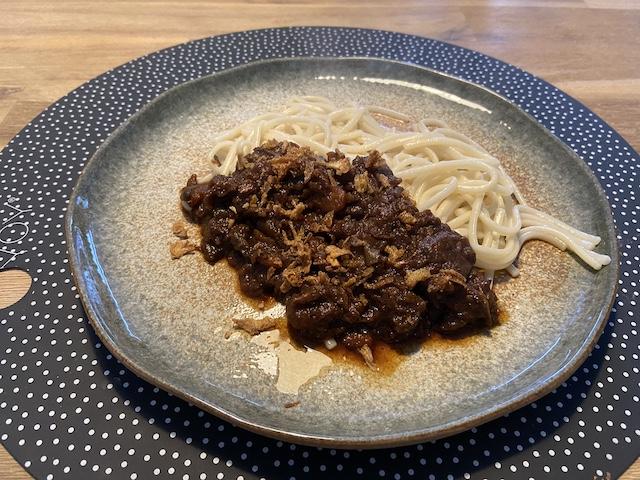 Noodles met Chinees Stoofvlees