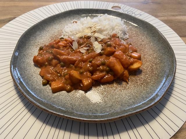 Vegetarische Curry met Appel